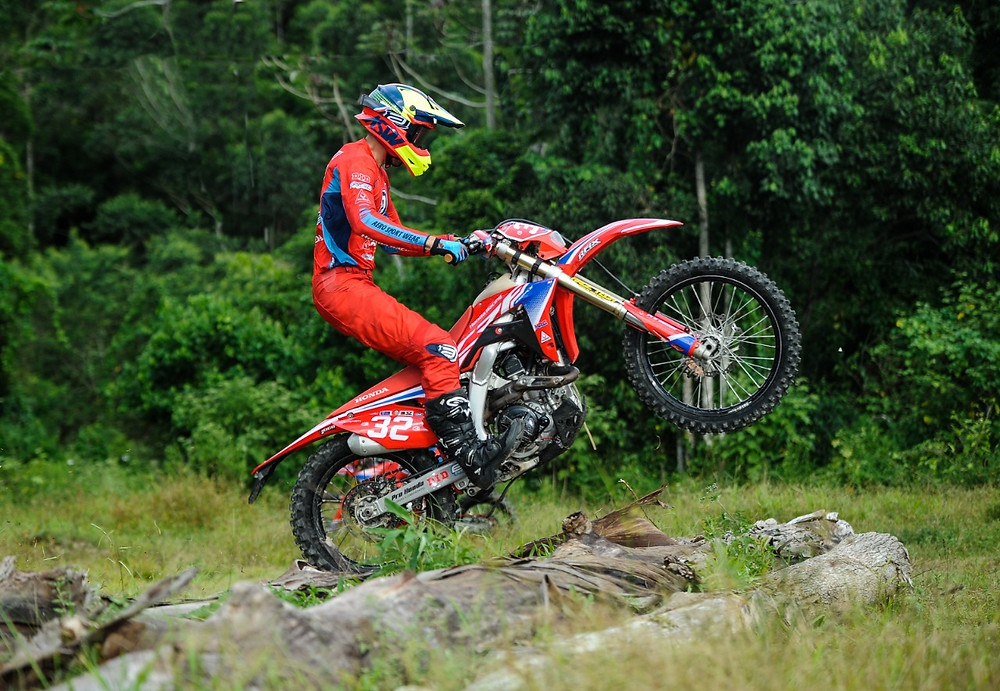 Motocicletas da equipe Honda Racing de Enduro