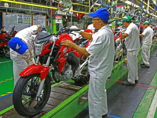Produção de motocicletas mantém recuperação e ultrapassa 122 mil unidades em abril