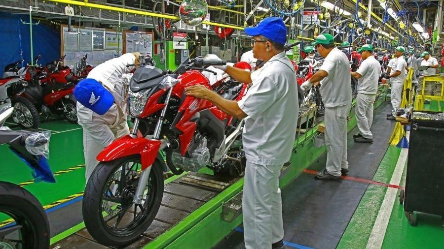 Produção de motos Honda em 2021