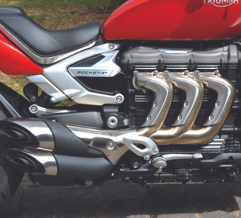Motor de 2.500cc da Triumph Rocket 3
