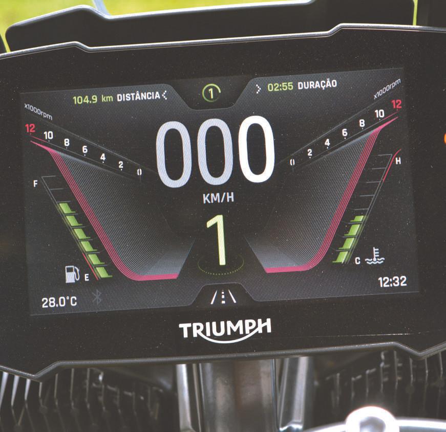 Painel da Triumph Tiger 900 GT Pro