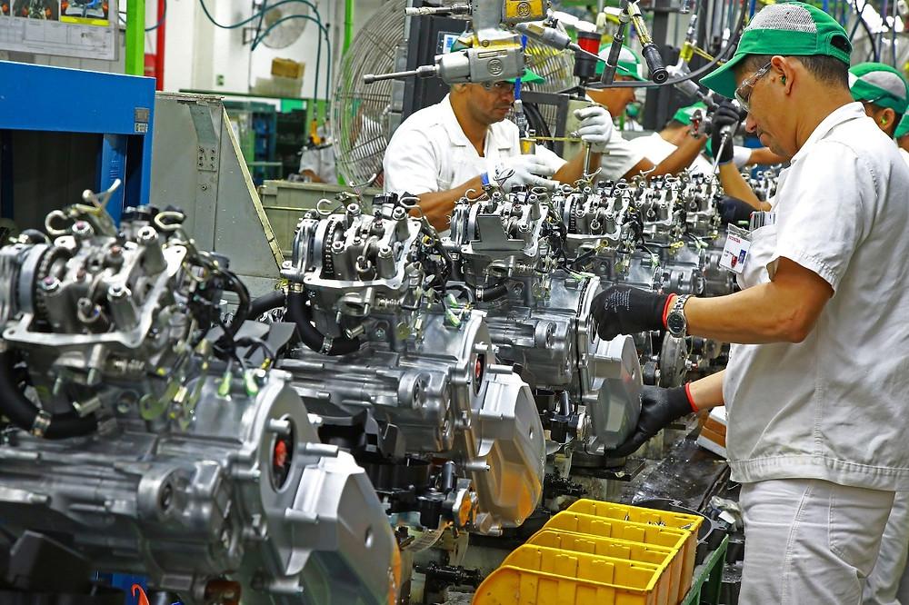 Em agosto, as fabricantes de motocicletas do Polo Industrial de Manaus – PIM, produziram 123.722 unidades