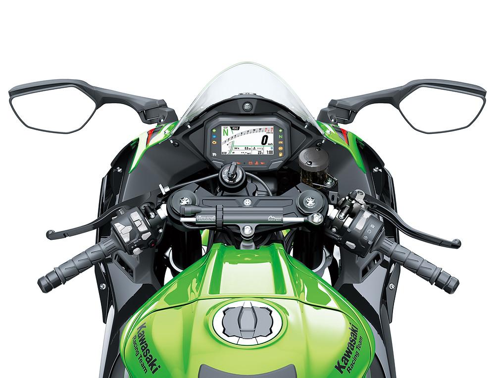 Cockpit da Kawasaki Ninja ZX-10R 2022
