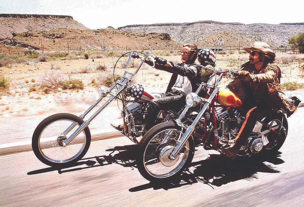 """Peter Fonda e Dennis Hopper em """"Easy Rider"""" de 1969, que marcou época"""