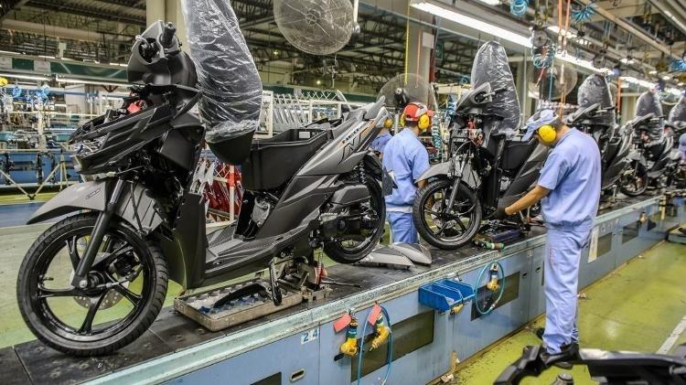 Produção de motocicletas Honda em 2021