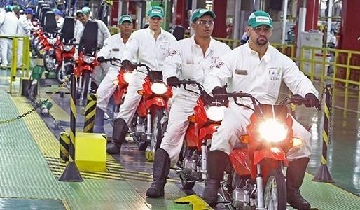 Indústria Produz Mais de 103 Mil Motocicletas em Maio