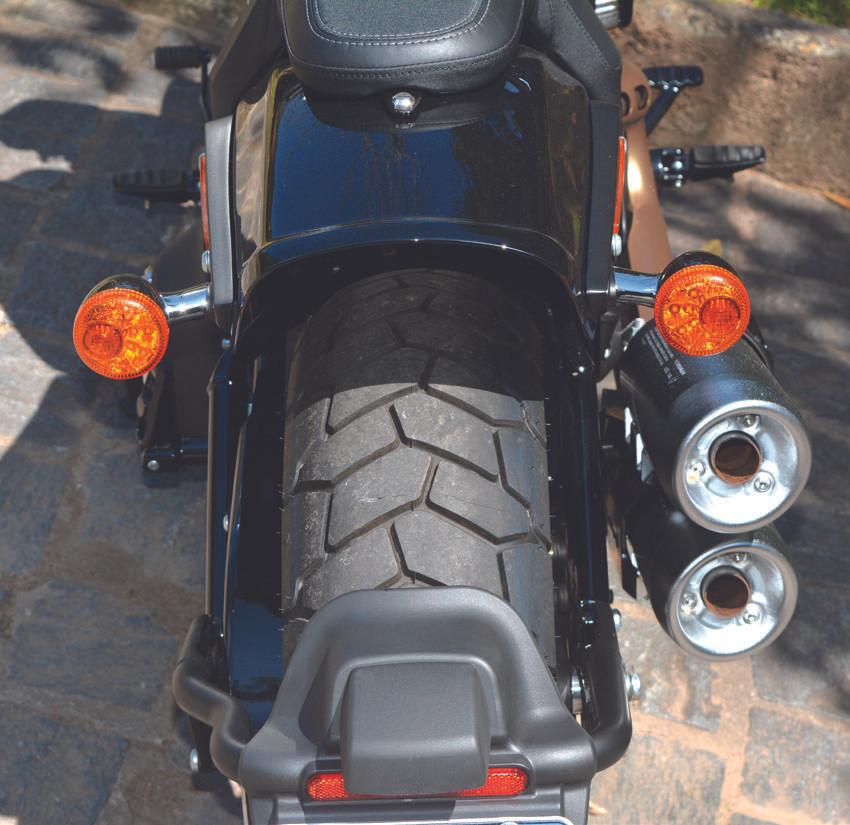 Traseira da Harley-Davidson Fat Bob