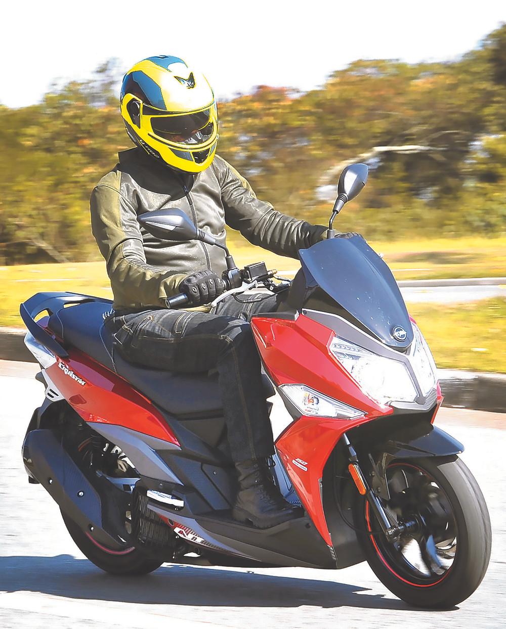 Scooter Dafra Cruisym 150 no Brasil