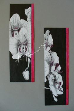 Pointillism Orchids