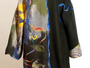 "Felted Art Coat: ""Promise of Spring"""