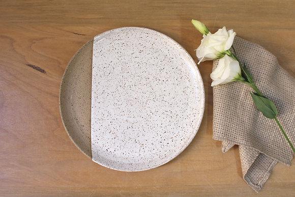 Prato de jantar Areia - com faixa