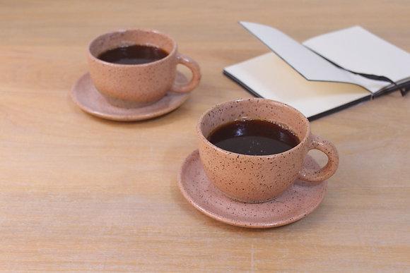 Dupla de café - blush