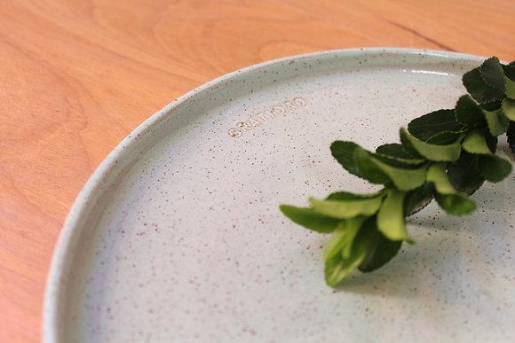 Prato de jantar - personalizado e verde