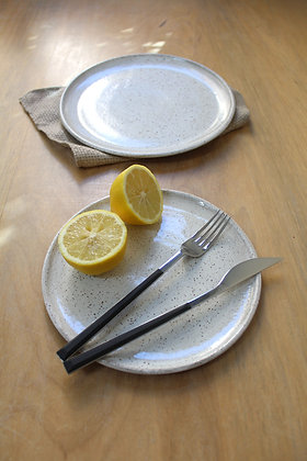 Pratos Areia - jantar e sobremesa (lisos)