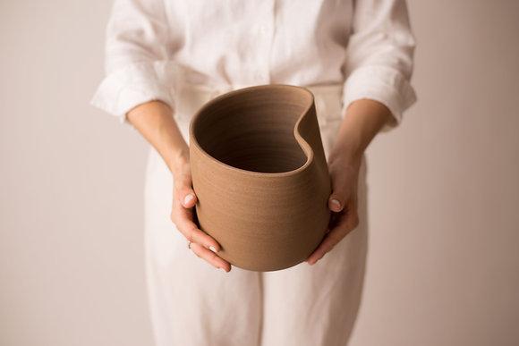 vaso curva médio cerâmica