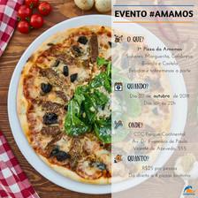 Participe da 1ª Pizza da Amamos!