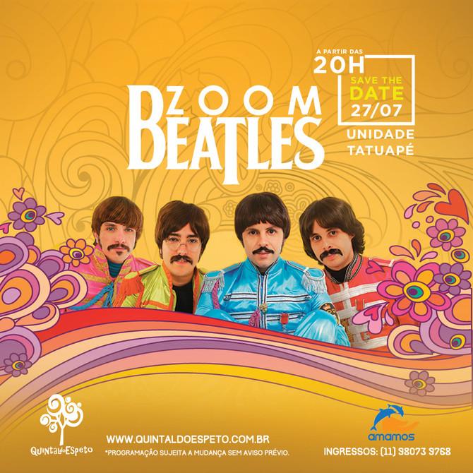Não perca a apresentação da banda ZoomBeatles no Quintal do Espeto!