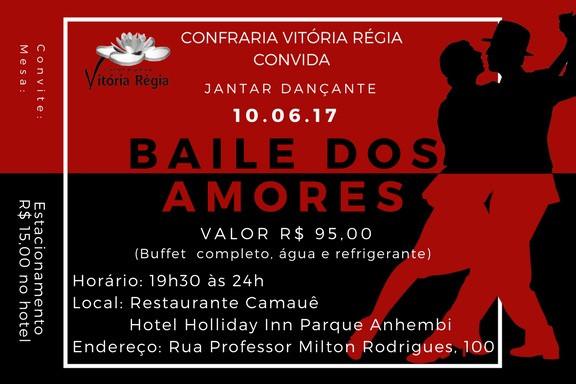 Você está convidado a participar do Baile dos Amores!