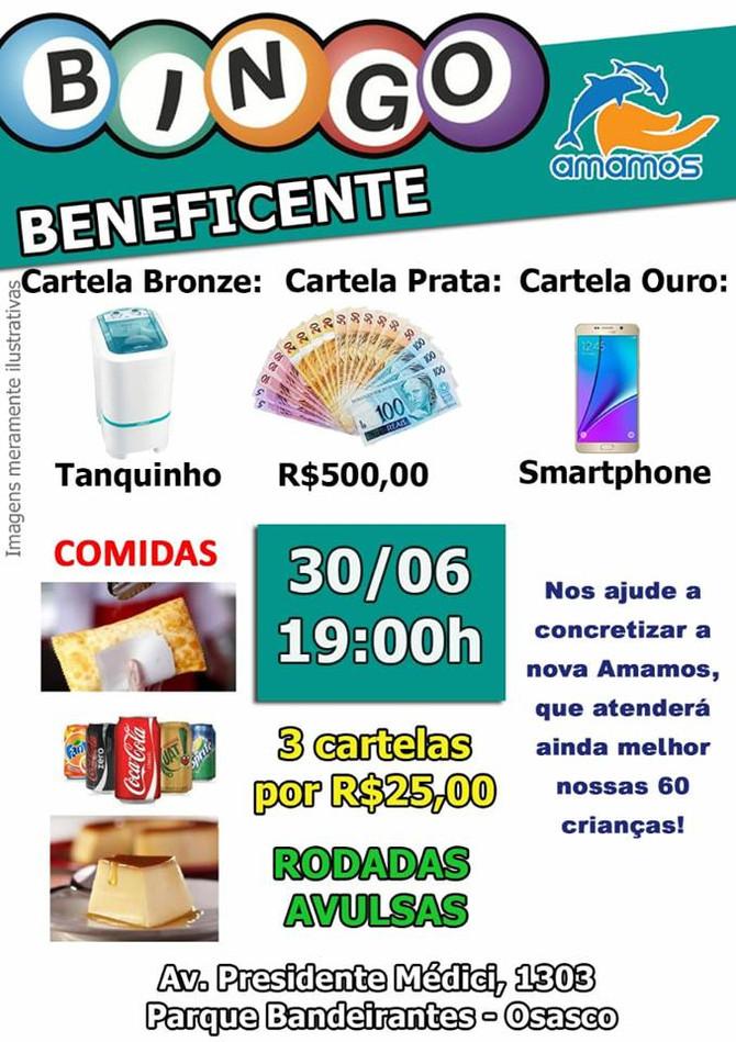 Participe da edição de junho do Bingo Beneficente da Amamos!