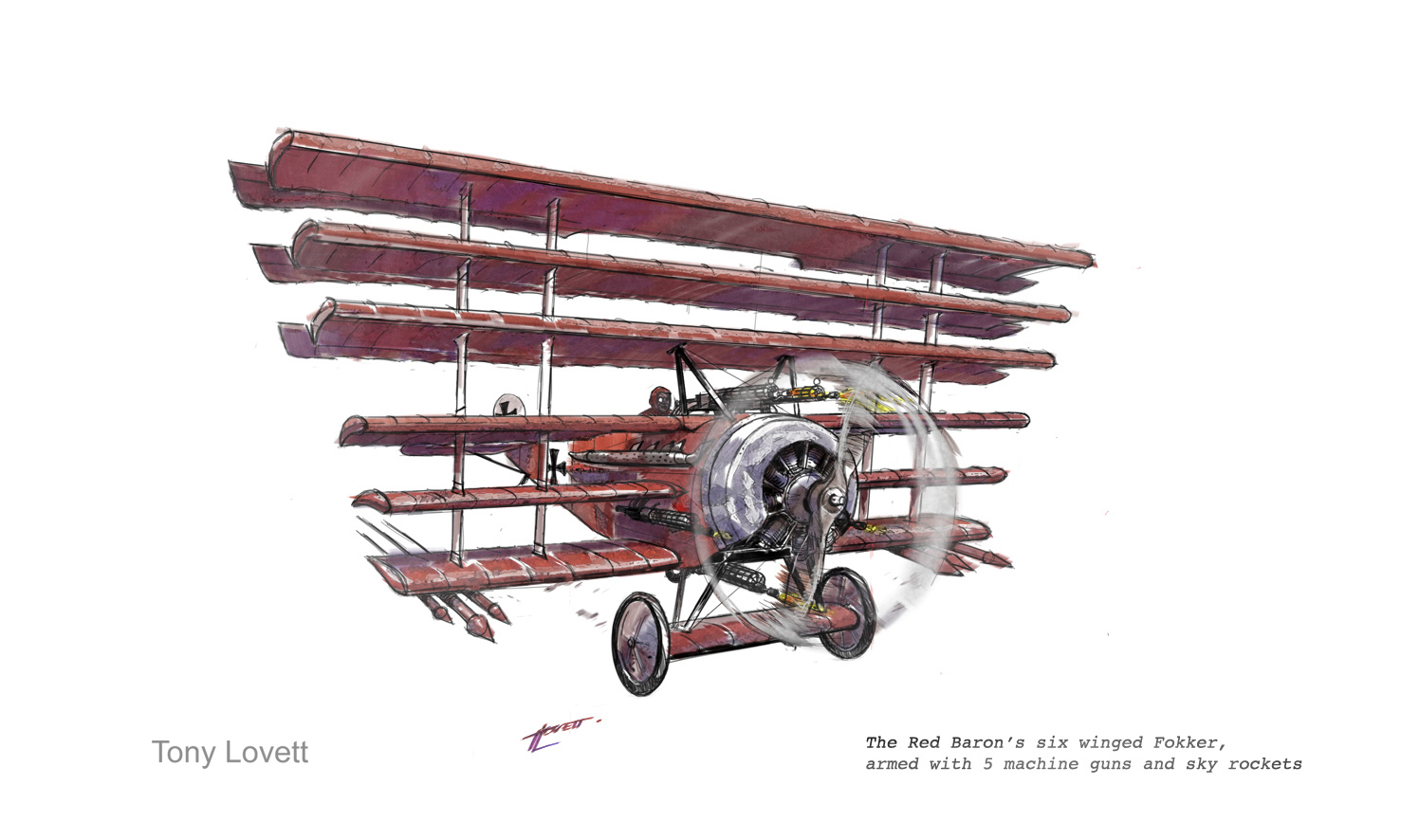 Red Baron's 6 wing fokker