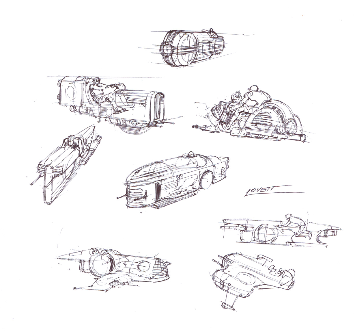 Speeder design sketches