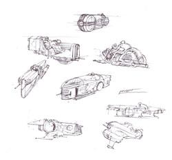 Speeder design sketches