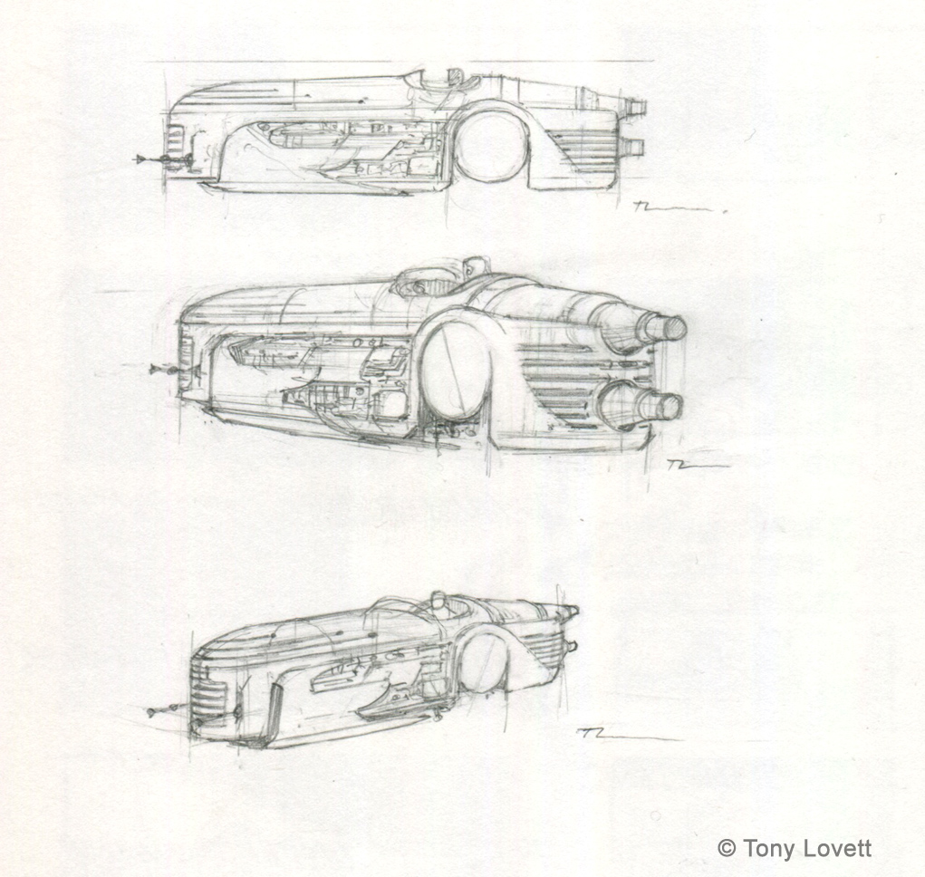 Speeder design - sketches