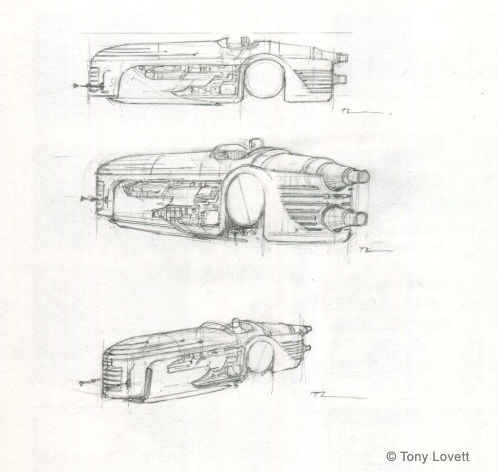 Speeder design - sketches
