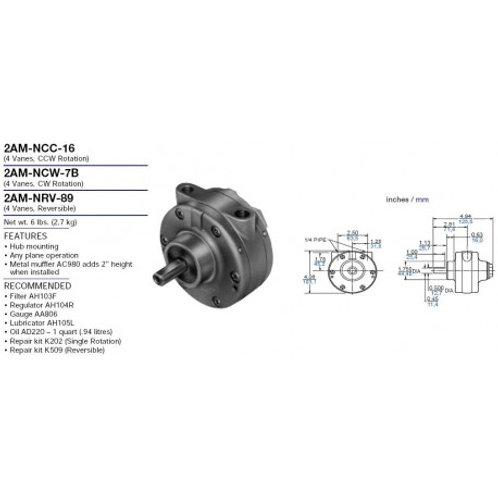 Gast Air Motor 2AM NCC 16