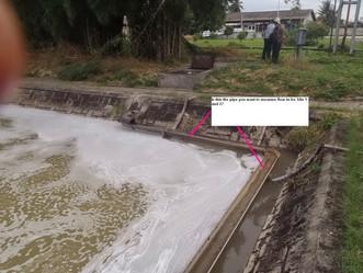 Flow meter limbah Pabrik CPO