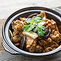 Sizzling Ranch Chicken with Chestnut Clay Pot 啫啫栗子黃毛雞煲