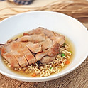 Pork Chop Macaroni or Ramen 豬扒通粉 / 公仔麵