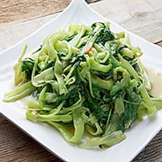 Sautéed Water Spinach w/ Preserved Bean Curd (Seasonal) 椒絲腐乳通菜
