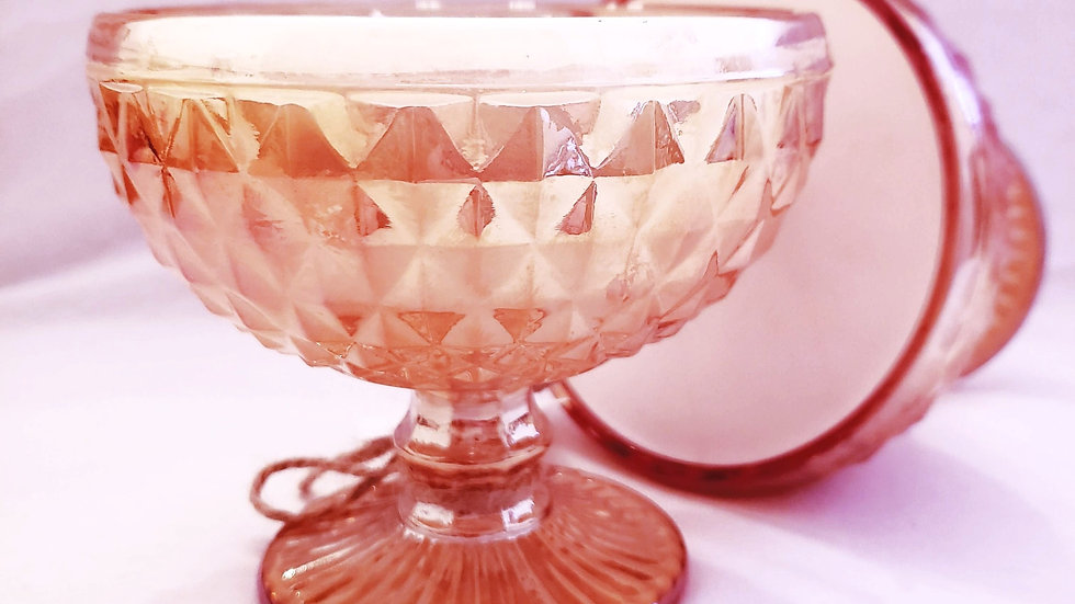 Iridescent Compote Candle