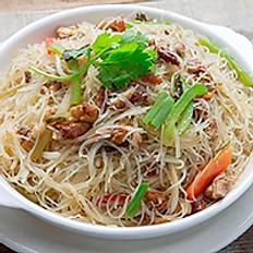 Braised Shredded Roast Duck & Pickled Cabbage Vermicelli 雪菜火鴨絲燜米