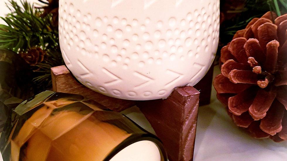 Caveman Ceramic Pot in White
