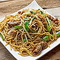 Fried Beef Spaghetti with Black Pepper Sauce 黑椒牛肉炒意粉