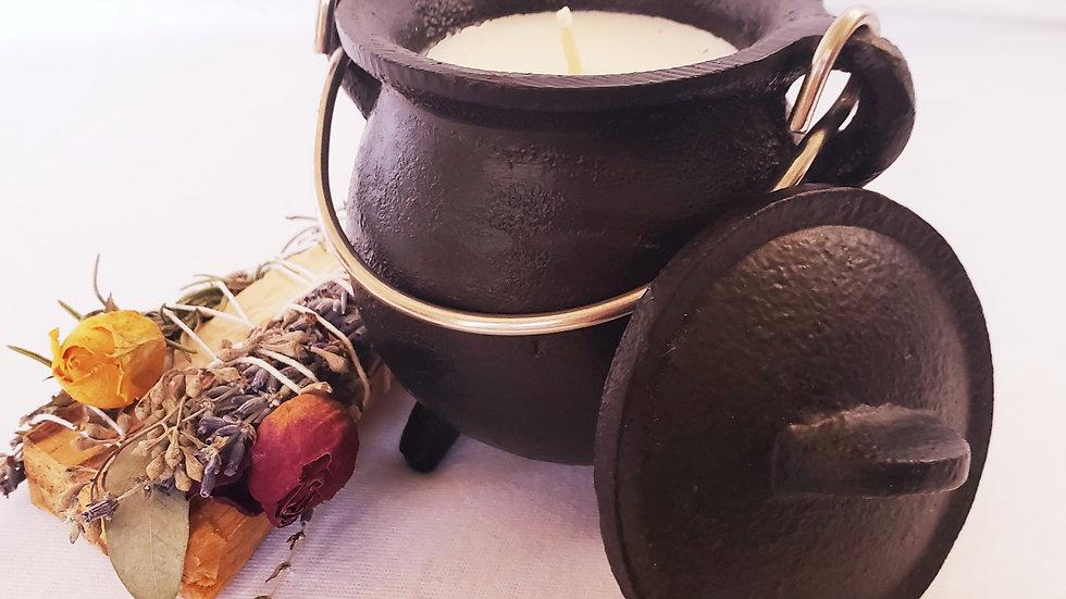 Cast Iron Cauldron Candle