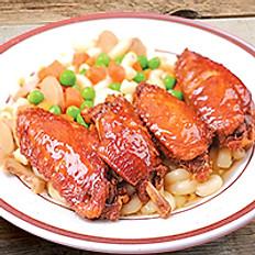 Swiss Chicken Wings Macaroni or Ramen 瑞士雞翼通粉 / 公仔麵