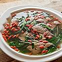 Pork Liver & Goji Berry in Broth 豬潤杞子浸枸杞