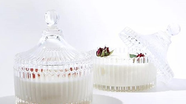 Vintage Style Ribbed Candy Dish