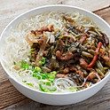Pickled Cabbage & Shredded Pork Rice Noodle Soup 雪菜肉絲湯米