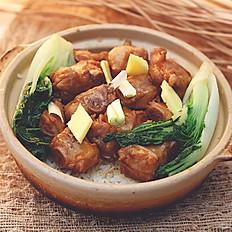Pork Spare Ribs Clay Pot Rice 豆豉排骨煲仔飯