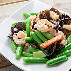 Sautéed Prawns with Sweet Peas 甜豆雲耳炒蝦球