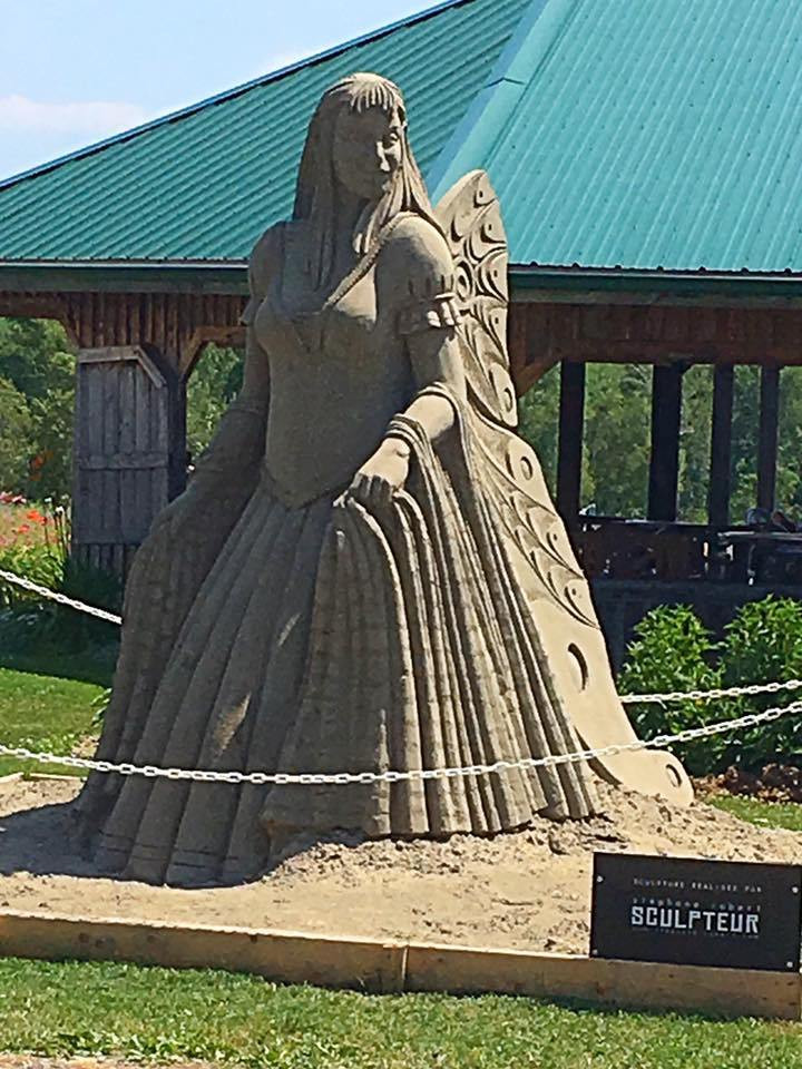 Gorgeous sand sculptures though out the grounds.
