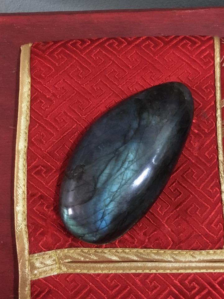 My labradorite 'booby stone'.