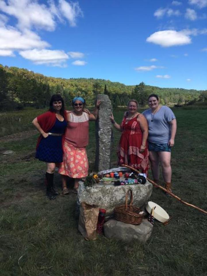 North Stone & Altar, at Dragon's Teeth Farm