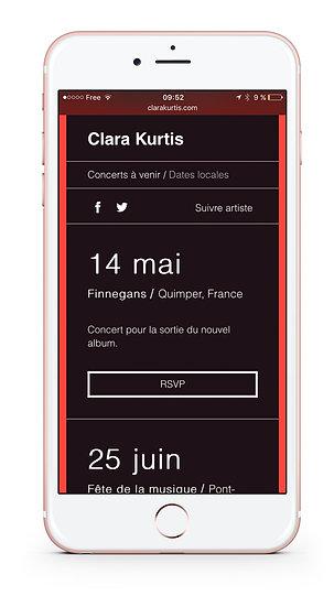Site Web Clara Kurtis Odace Design