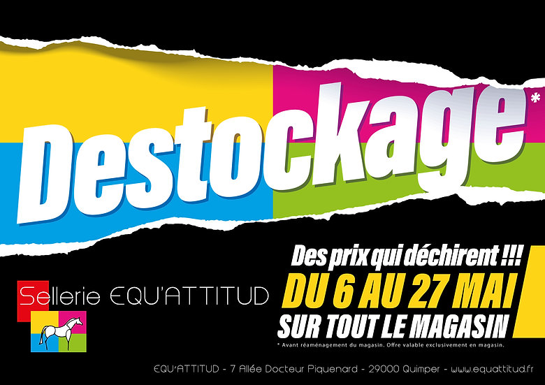 Affiche A3 Equ'attitud Destockage Odace Design