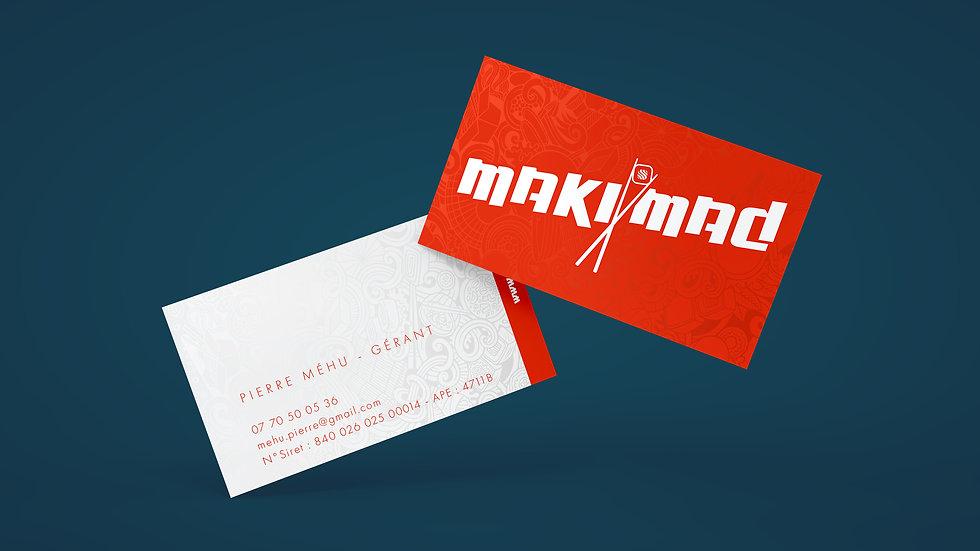 Cartes de visite MakiMad